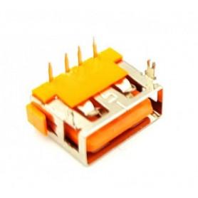 كانكتور USB-A مادگی کوتاه 10mm رنگ نارنجی