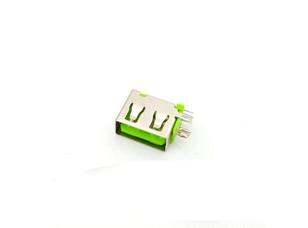 كانكتور USB-A مادگی ایستاده رایت کوتاه 10mm رنگ سبز