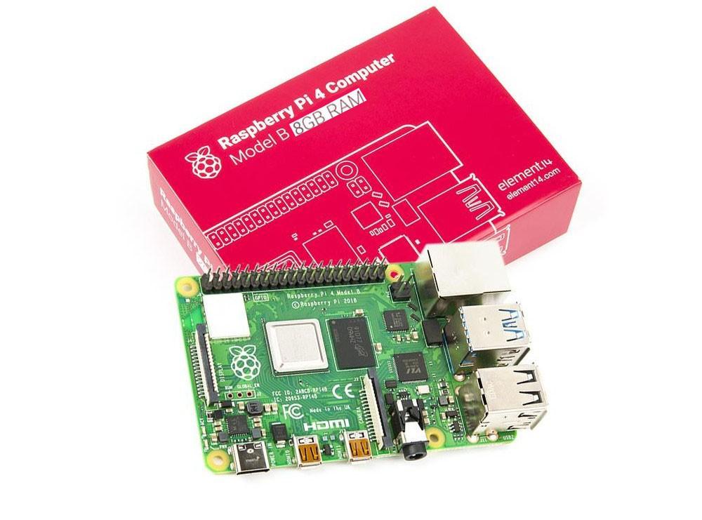 برد رزبری پای Raspberry Pi 4 مدل B تولید انگلستان با رم 8GB