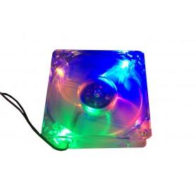 فن 12V شیشه ای چراغدار دو سیمه سایز 8x8 ضخامت 2.5cm دست دوم