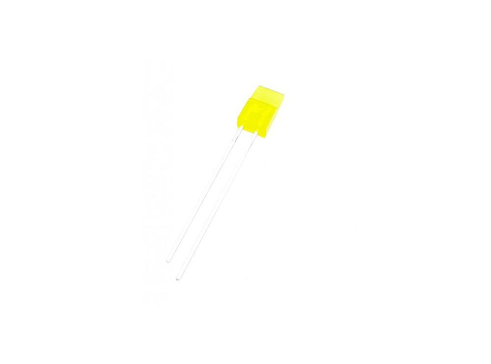 LED تخت مات زرد لبه دار 1x5