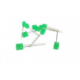 LED مکعبی مات سبز 5x5