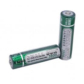 باتری لیتیوم یون 3.7v سایز 18650 3800mAh مارک Small Sun
