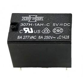 رله 5V مینیاتوری 4 پایه تایوانی مارک SONG CHUAN کد 307H-1AH-C