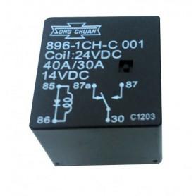 رله 24V قدرت 5 پایه تایوانی مارک SONG CHUAN کد 896l-1CH-C