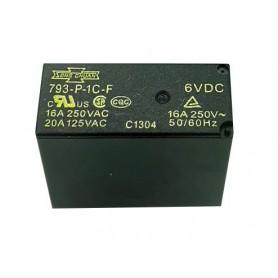 رله 6V مینیاتوری 8 پایه تایوانی مارک SONG CHUAN کد 793I-P-1C-F