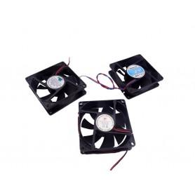 فن 12V ساده دو سیمه سایز 8x8 ضخامت 2.5cm دست دوم پشت مربع