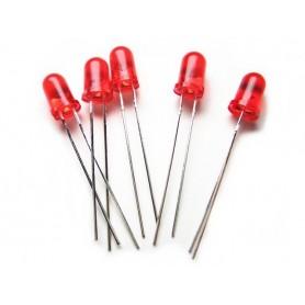 LED قرمز مات 4mm