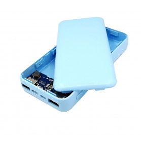 کیس پاوربانک با دو ورودی MICRO , TYPE-C و دو خروجی USB به همراه برد 4 باتری