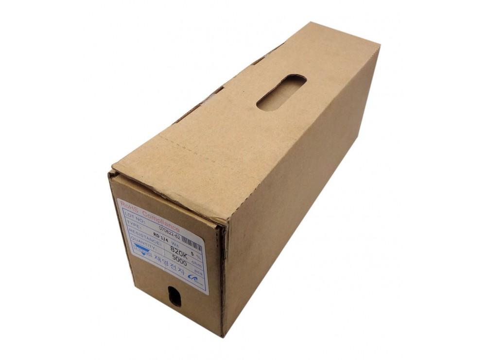 مقاومت کربنی 820K اهم 0.25w کره ای بسته5000 تایی