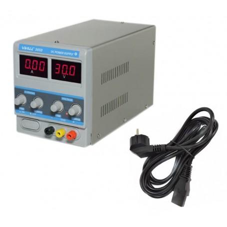 منبع تغذیه دیجیتال 0 تا 30 ولت 5 آمپر YIHUA مدل 305D