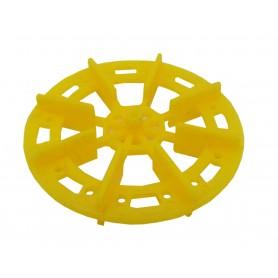 سازه چرخ پلاستیکی پروانه ای قطر 7 سانتی متر
