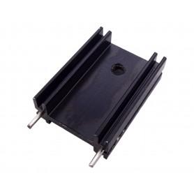 هیت سینک آلومینیومی مشکی TO220 سایز 25x18x8mm