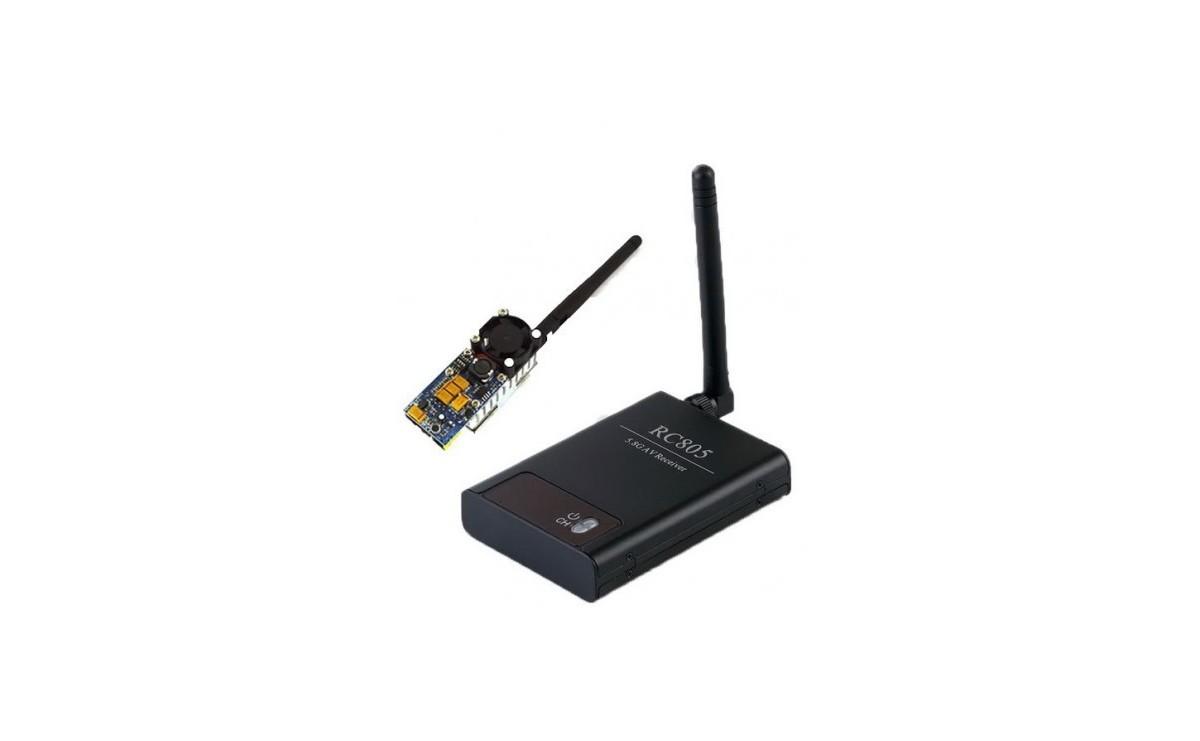 پک فرستنده و گیرنده بیسیم تصویر FPV 5.8G 200mW - مدل TS353+ RC805