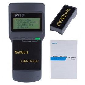 تستر کابل و شبکه RJ11/RJ45 Tester مدل SC8108