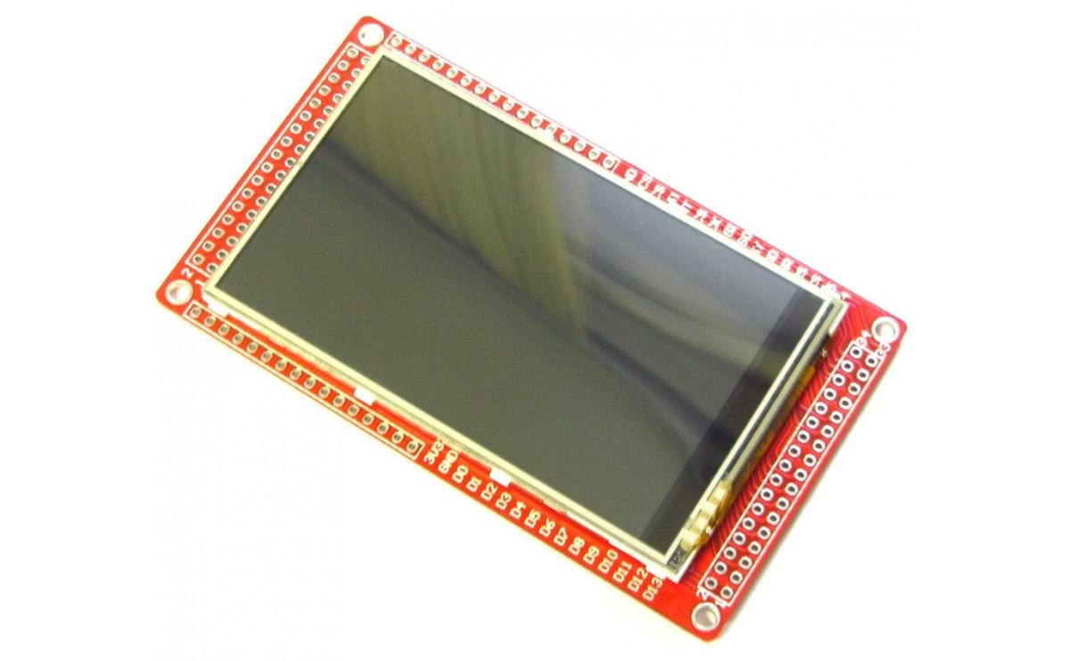"""ماژول LCD 3.2"""" Wide عریض تمام رنگی به همراه تاچ اسکرین"""