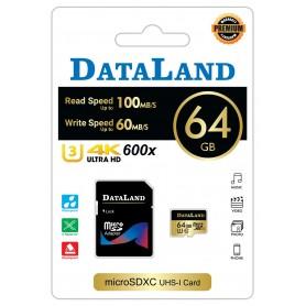 کارت حافظه MicroSDHC مارک DATALAND ظرفیت 64GB