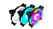 فن کیس LED پنج رنگ 12V سایز 12X12 مارک COOLMOON