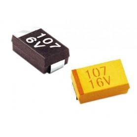 خازن تانتال SMD 10uF / 16V پکیج D
