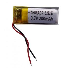 باتری لیتیوم پلیمر 3.7v ظرفیت 200mAh مارک AHURA.GR کد 521233