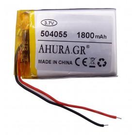 باتری لیتیوم پلیمر 3.7v ظرفیت 1800mAh مارک AHURA.GR کد 504055
