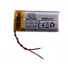باتری لیتیوم پلیمر 3.7v ظرفیت 500mAh مارک AHURA.GR کد 602040