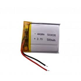 باتری لیتیوم پلیمر 3.7v ظرفیت 500mAh مارک AHURA.GR کد 503035
