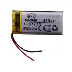 باتری لیتیوم پلیمر 3.7v ظرفیت 450mAh مارک AHURA.GR کد 402040