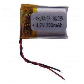 باتری لیتیوم پلیمر 3.7v ظرفیت 300mAh مارک AHURA.GR کد 602025