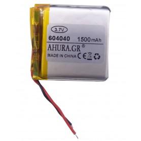 باتری لیتیوم پلیمر 3.7v ظرفیت 1500mAh مارک AHURA.GR کد 604040