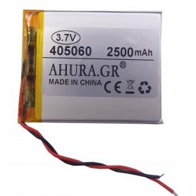 باتری لیتیوم پلیمر 3.7v ظرفیت 2500mAh مارک AHURA.GR کد 405060