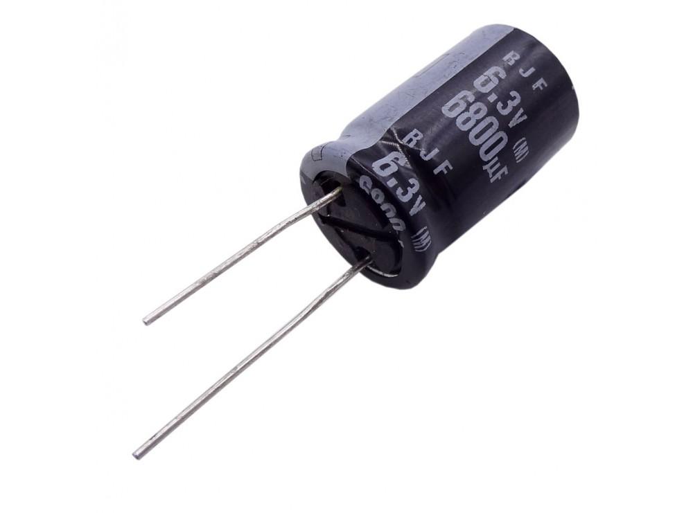 خازن الکترولیتی 6800uF / 6.3V ژاپنی مارک ELNA