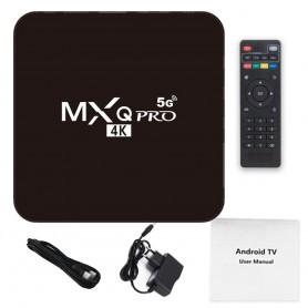 تی وی باکس MXQ Pro 4K 5G دارای پردازنده 64 بیتی S905W - اندروید 10.1