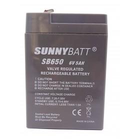 باتری خشک 6 ولت 5 آمپر ساعت مارک SunnyBatt