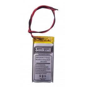باتری لیتیوم پلیمر 3.7v ظرفیت 500mAh مارک Sonikcell کد 552248