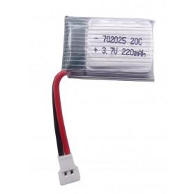 باتری لیتیوم پلیمر 3.7v ظرفیت 220mAh تک سل 20c