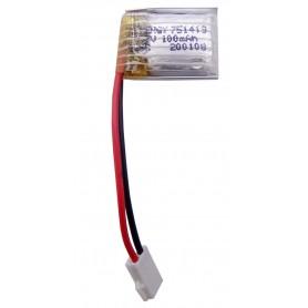 باتری لیتیوم پلیمر 3.7v ظرفیت 100mAh تک سل 25c مارک Energy کد 751419