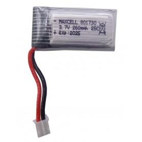 باتری لیتیوم پلیمر 3.7v ظرفیت 260mAh تک سل 25C مارک Maxcell کد 801730