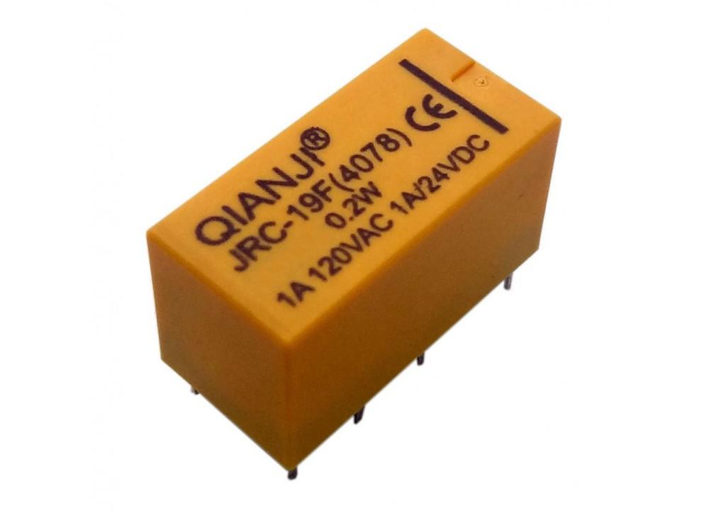 رله مخابراتی 12V بوبین وسط 8 پین مارک QIANJI کد JRC-19F(4078)
