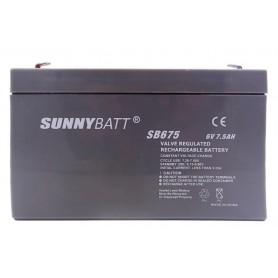باتری خشک 6 ولت 7.5 آمپر ساعت مارک SunnyBatt