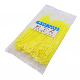بست کمری زرد 3x100mm بسته100 تایی