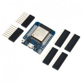 برد WeMos mini D1 با هسته ESP-WROOM-32 دارای بلوتوث و وایفای داخلی