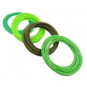 فیلامنت 10متری پرینتر 3 بعدی PLA قطر 1.75mm سبز شفاف