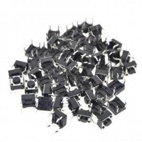 تک سوئیچ 6x6x4.3mm مشکی بسته 1000 تایی