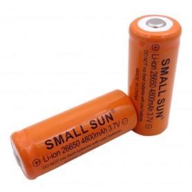 باتری لیتیوم یون 3.7v سایز 26650 4800mAh مارک SMALL SUN