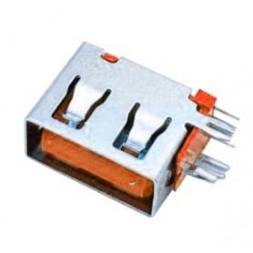 كانكتور USB-A مادگی ایستاده رایت کوتاه 10mm رنگ نارنجی