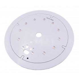 برد PCB آلومینیومی گرد LED 2835 قطر 100mm