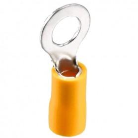 سرسیم گرد روکش دار زرد مدل RV5.5-6 بسته100تایی