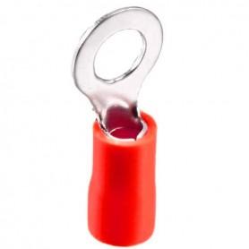 سرسیم گرد روکش دار قرمز مدل RV1.25-3 بسته100تایی
