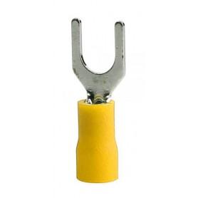 سرسیم دو شاخ روکش دار زرد مدل SV5.5-4 بسته100تایی